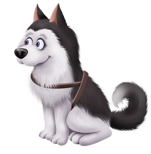Husky clipart gray dog. Dogs cute little