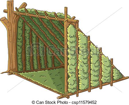 Hut clipart shelter. Survival pencil and in