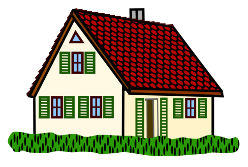 Cottage clipart. Shelter house housing home