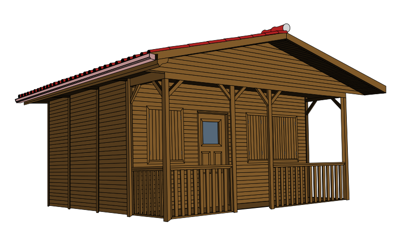 Cottage clipart rustic cabin. Clip art at vector