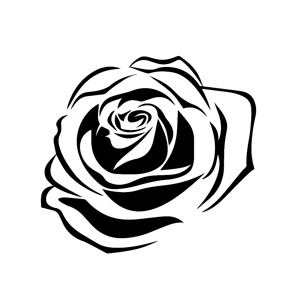 Hybrid drawing photography. Rose sticker by deroutiris