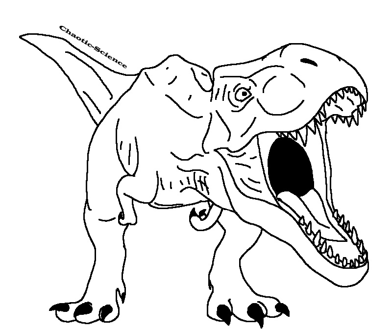 Hybrid Drawing T Rex Transparent Clipart Free Download