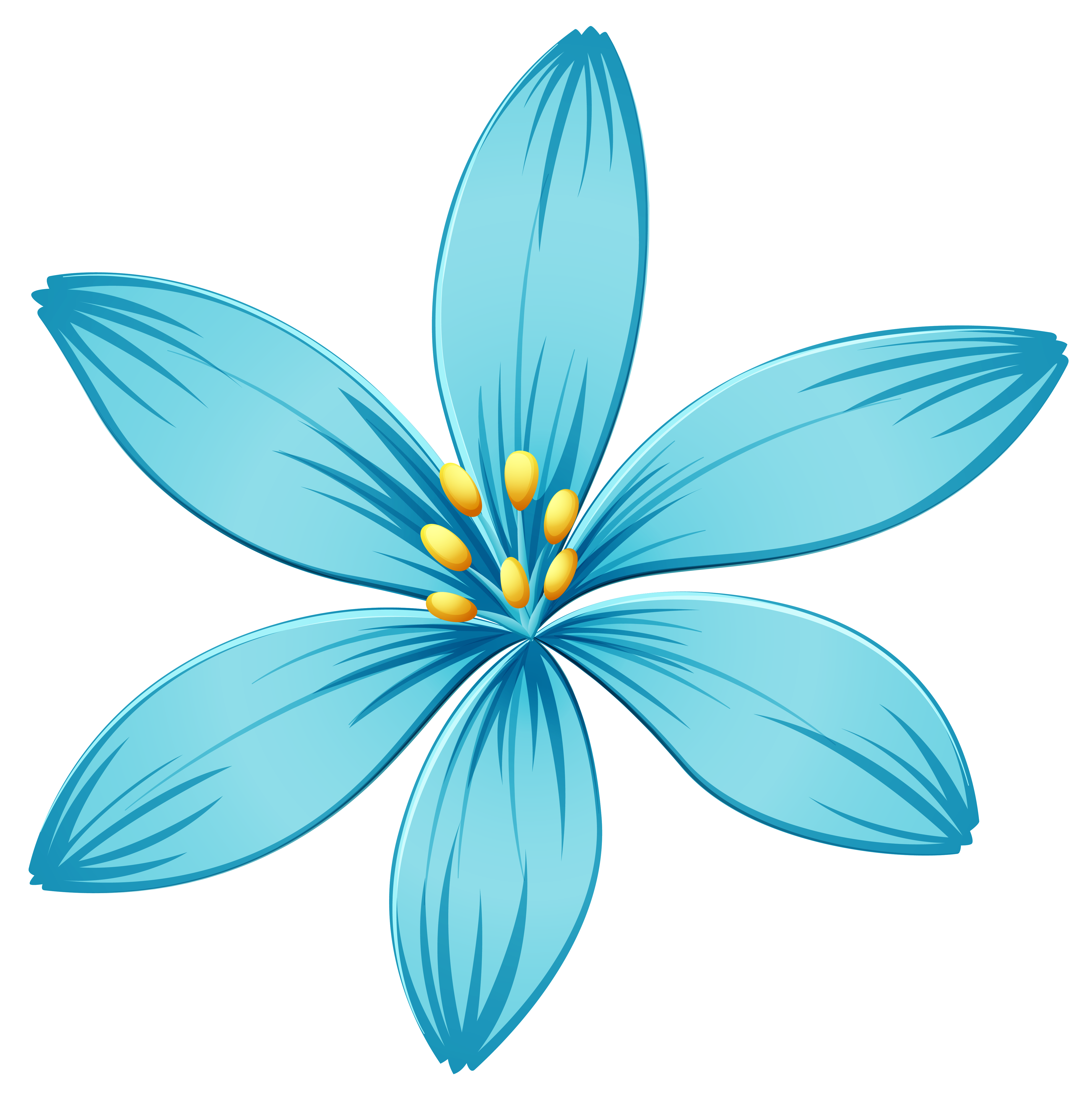 blue flowers png