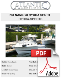 Hydrasports vector 28 foot. No name hydra sport