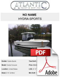 Hydrasports vector center console. No name hydra sports