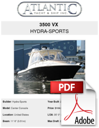 Hydrasports vector center console. Vx hydra sports