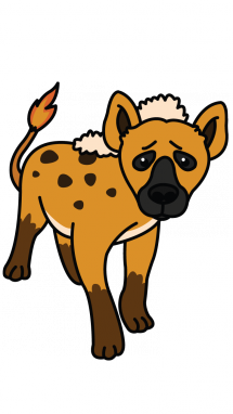 Collection of free hyenas. Hyena vector clip art royalty free library