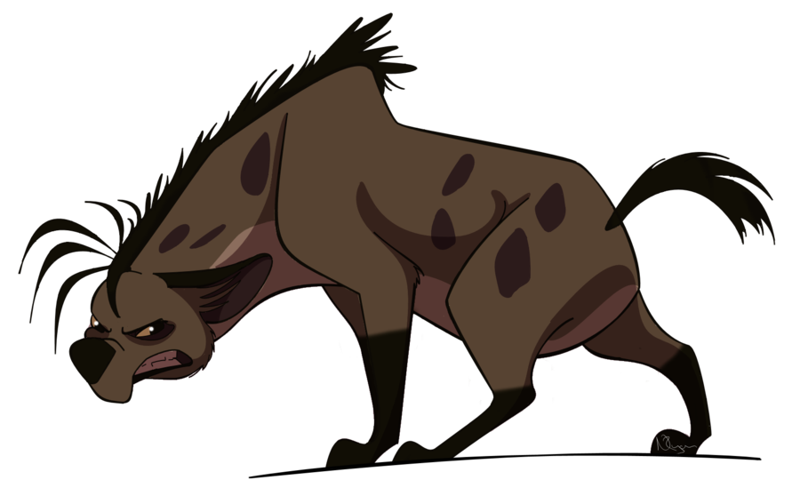 Collection of free hyenas. Hyena vector jpg