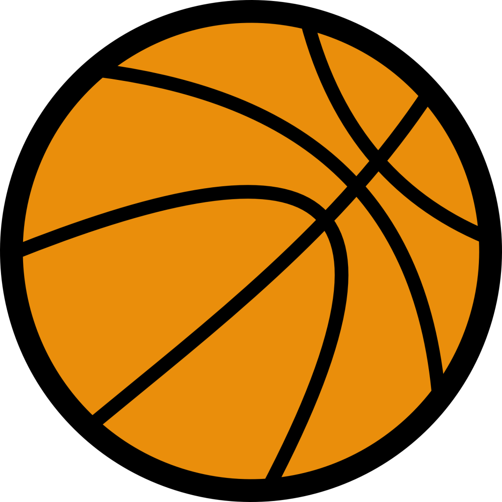 Basketball clipart. Girls black and white