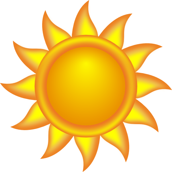Royalty free clipart. Sun decorative clip art