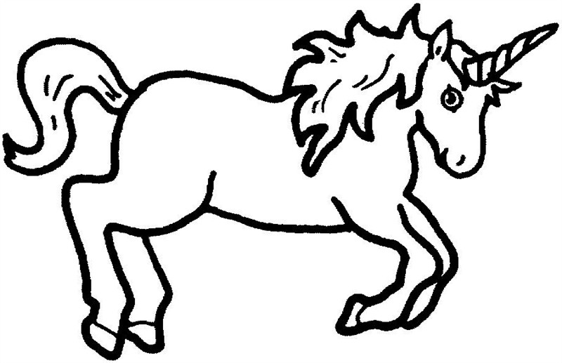 I clipart unicorn. Black and white cilpart