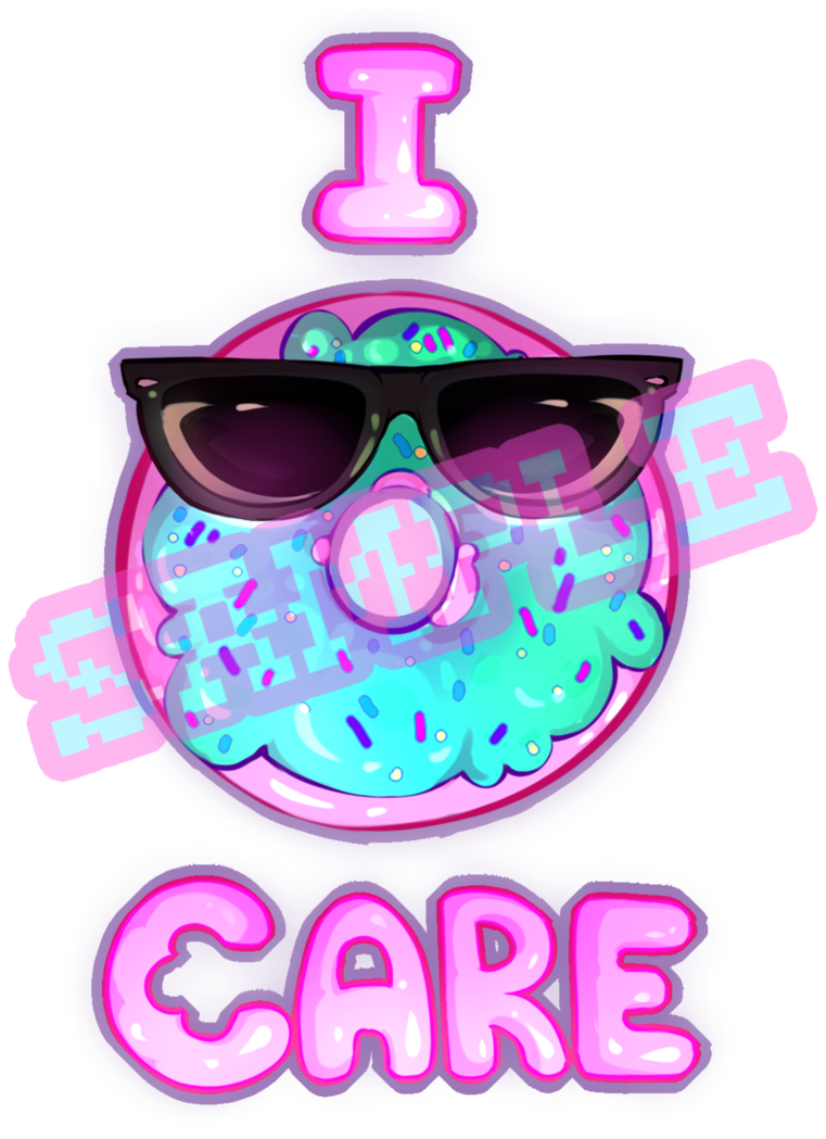 I donut care png. By kawaiiipoop on deviantart