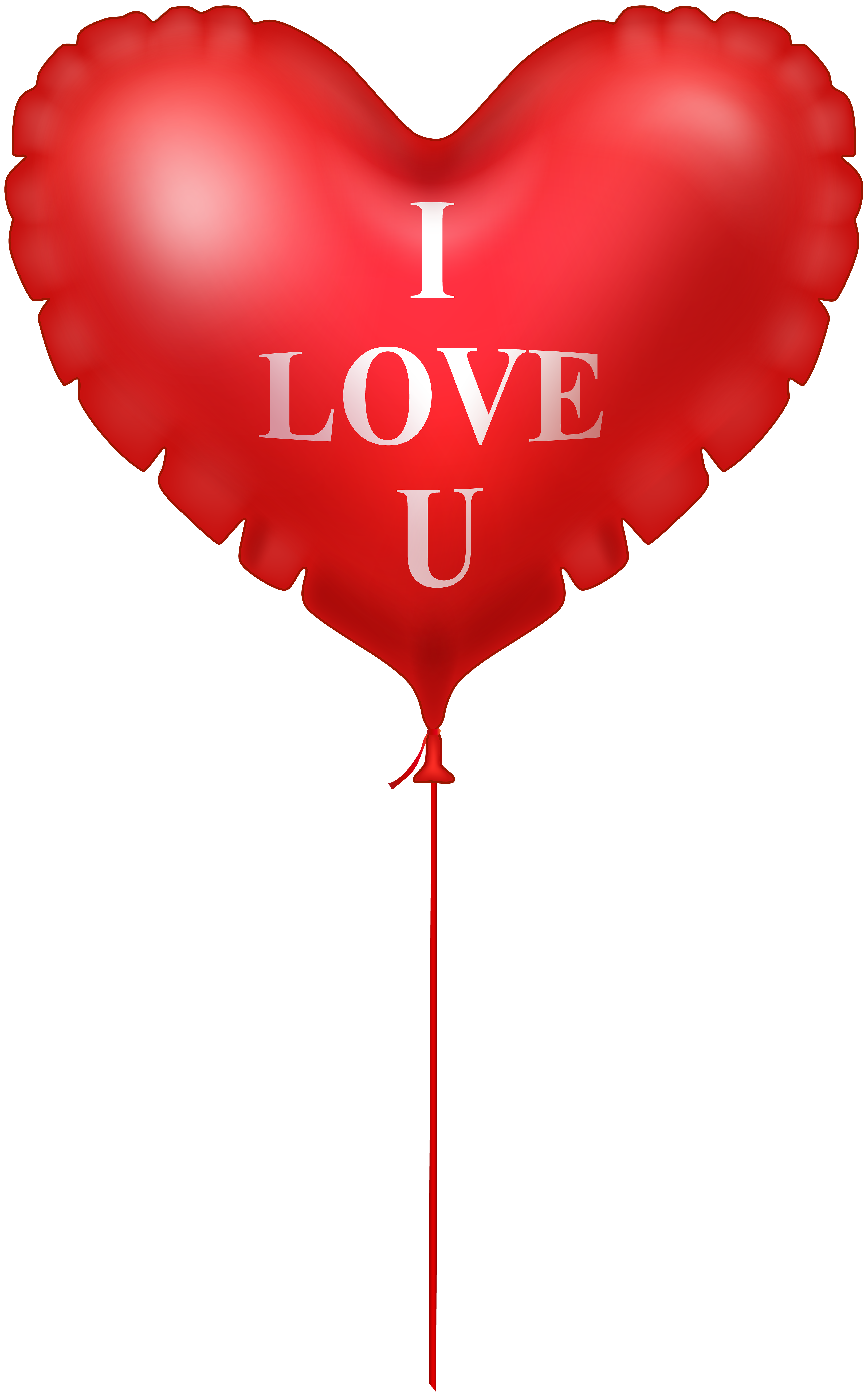 I heart png. Love you balloon image
