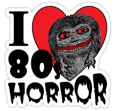 I love 80s png. S horror sticker by