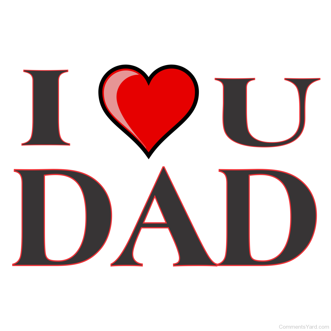 Image . Png love you dad clip art free
