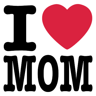 Mothers day logo . I love mom png png freeuse stock