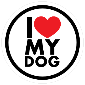 Circle sticker . I love my dog png png transparent stock
