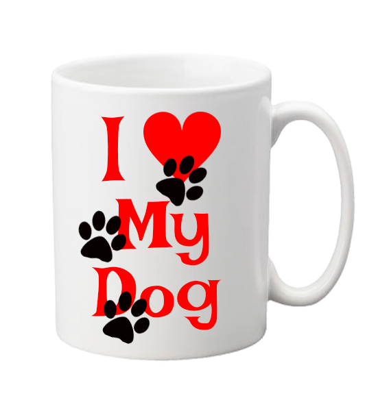 Or cat mug label. I love my dog png graphic library stock