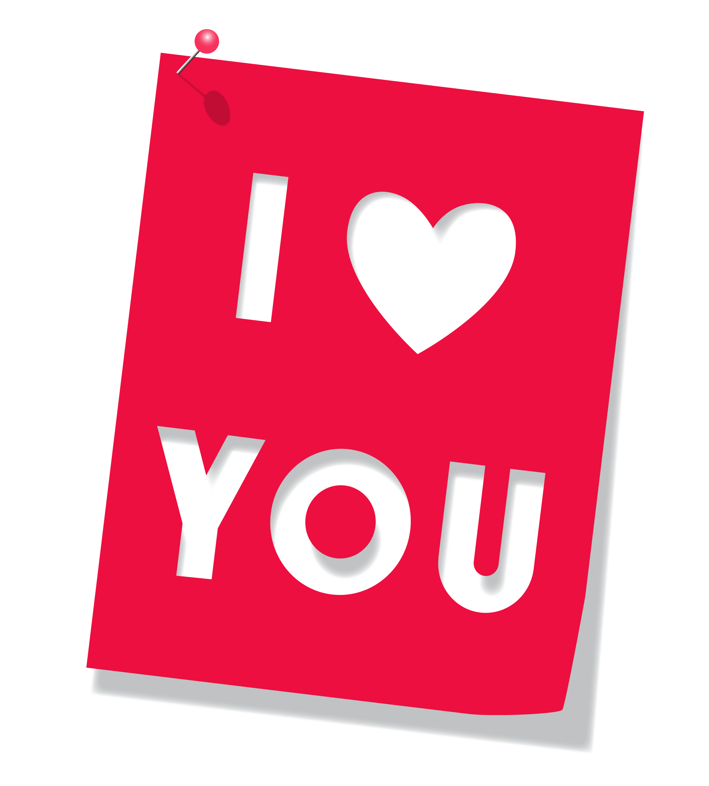 I heart png. Red love you clipart