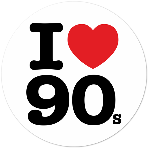 sticker transparent 90's