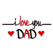 I love u dad png. You shirts for father