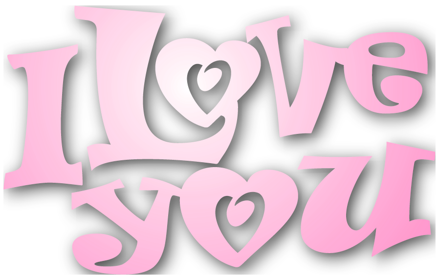 I love u png. Valentines pink you clipart