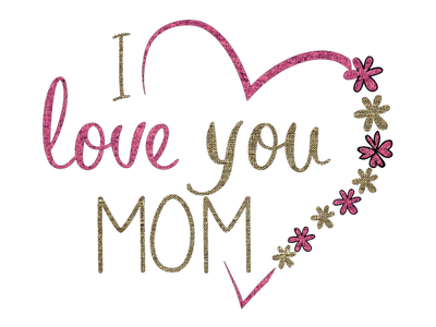 Heart words greeting happy. I love you mom png freeuse library