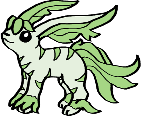 Leafeon from pokemon gold. Ibis drawing sacred clip royalty free