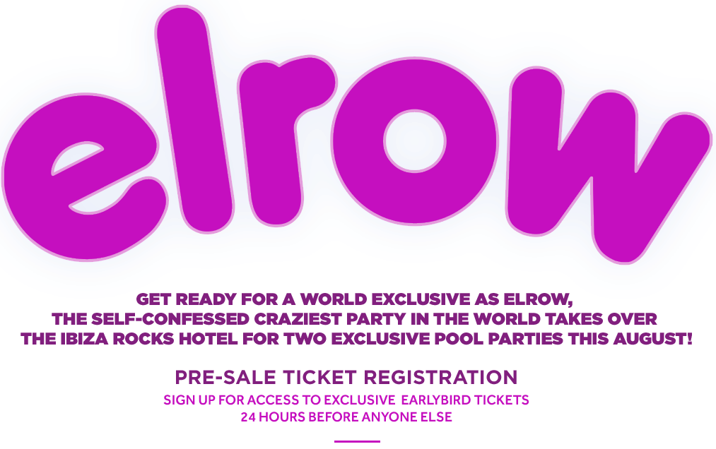 Ibiza pool party template png. Elrow at rocks hotel