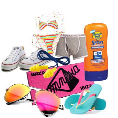 Ibiza pool party template png. How to pack for