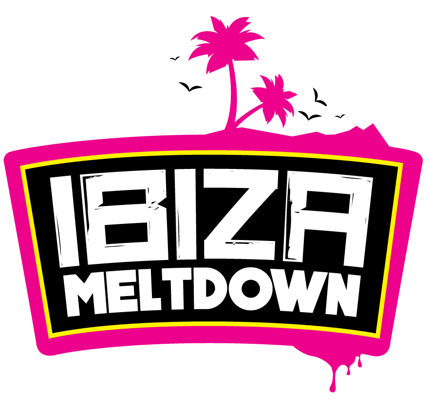 Ibiza pool party template png. Itinerary meltdown copyright all