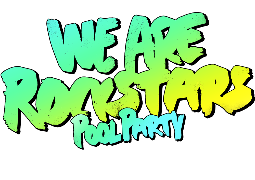 Ibiza pool party template png. We are rockstars with