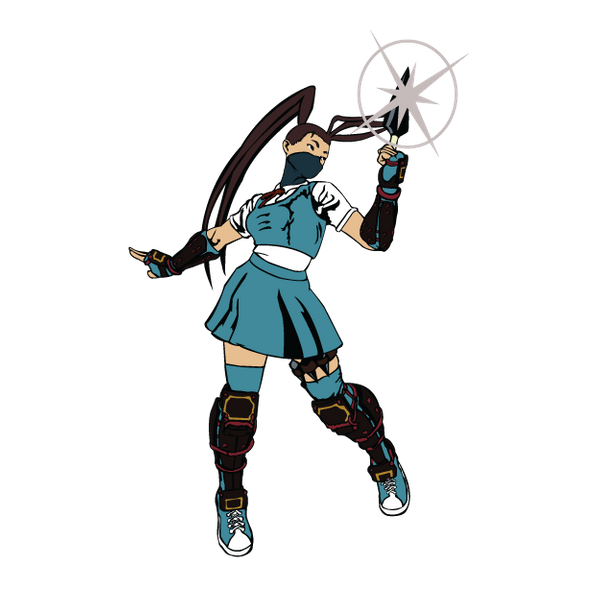 Ibuki street fighter 5 png. Sticker creative flame designs