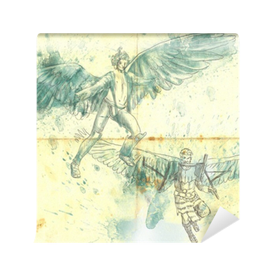 Icarus drawing art. And daedalus full sized