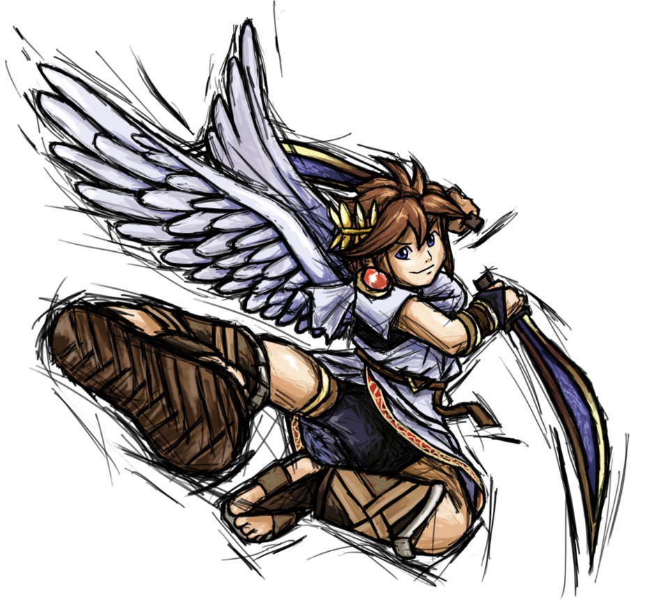 Icarus drawing angel. Smash striker pit by