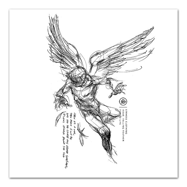 Icarus drawing falling. Print feather png pixels