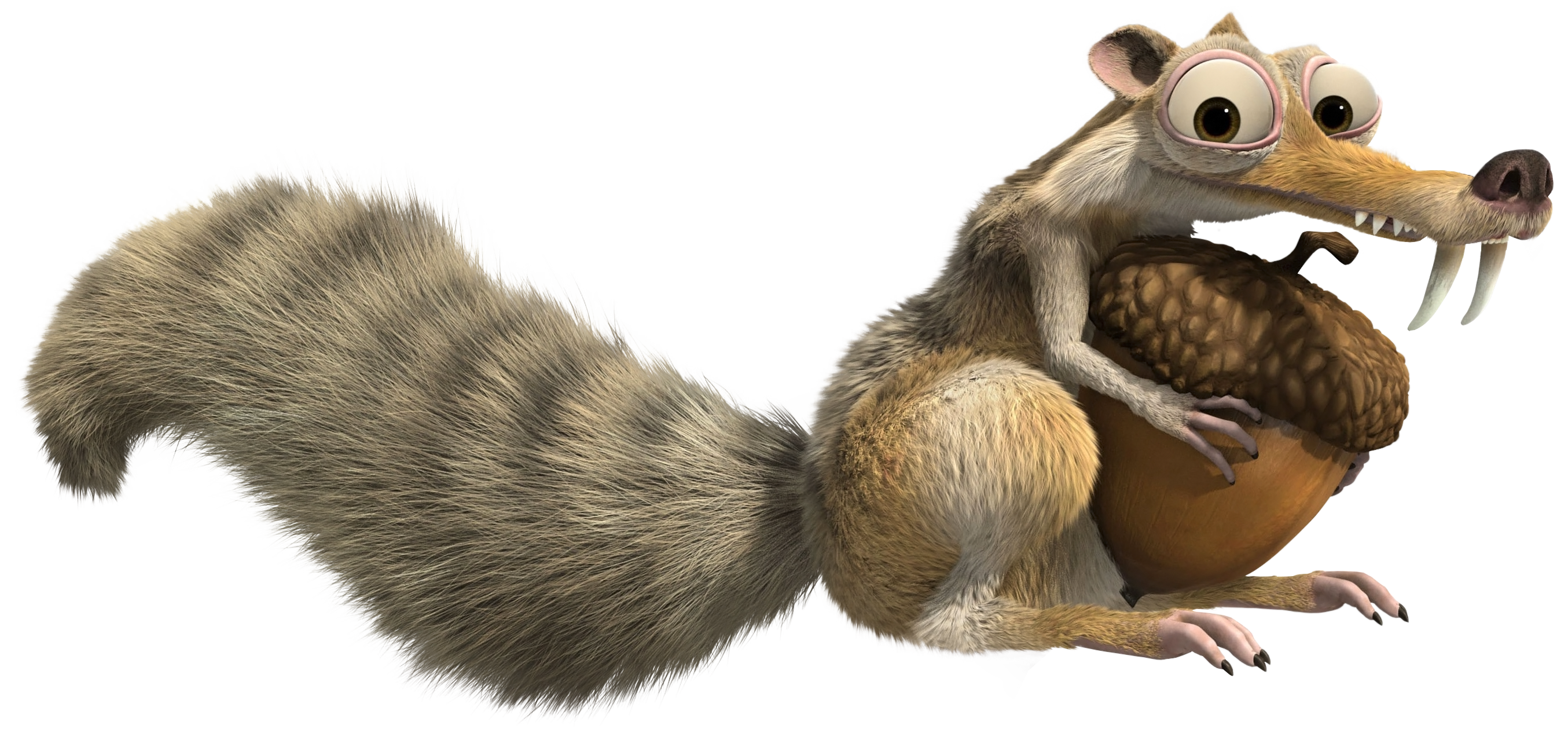 Squirrel tail png. Ice age scrat transparent