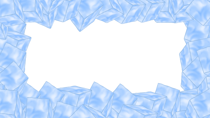 Ice border png. Blue full size