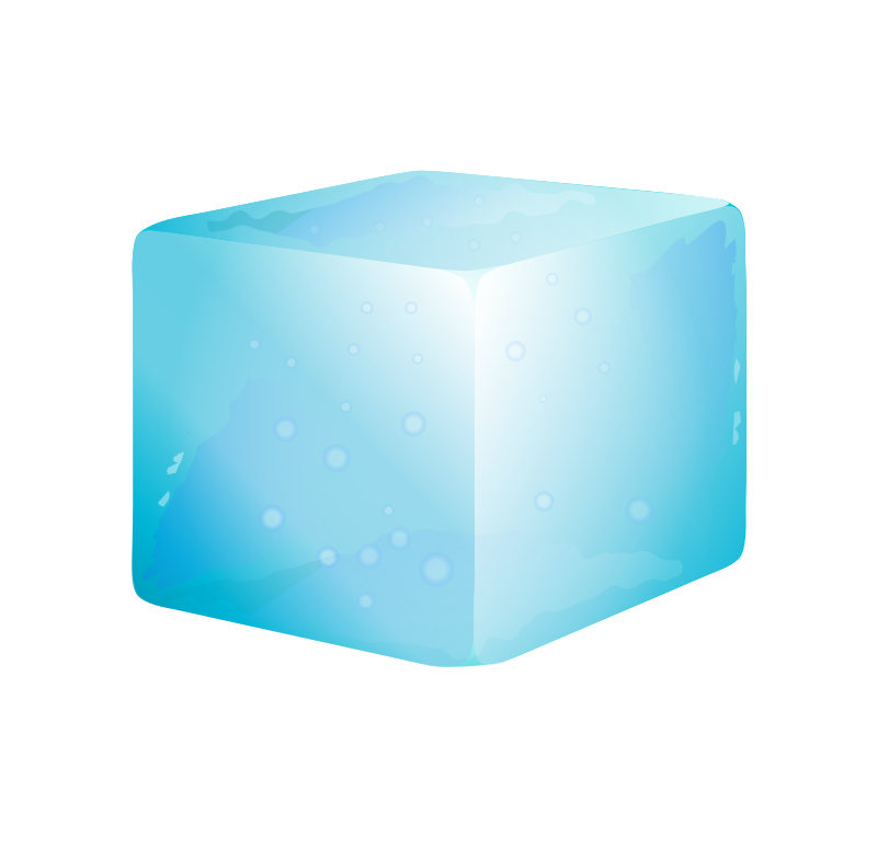 Transparent blocks ice