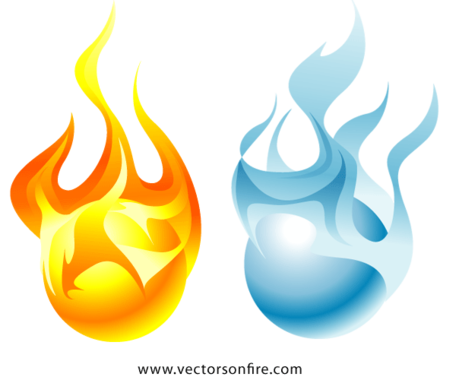 Ice clipart fire. Free and orbs vector