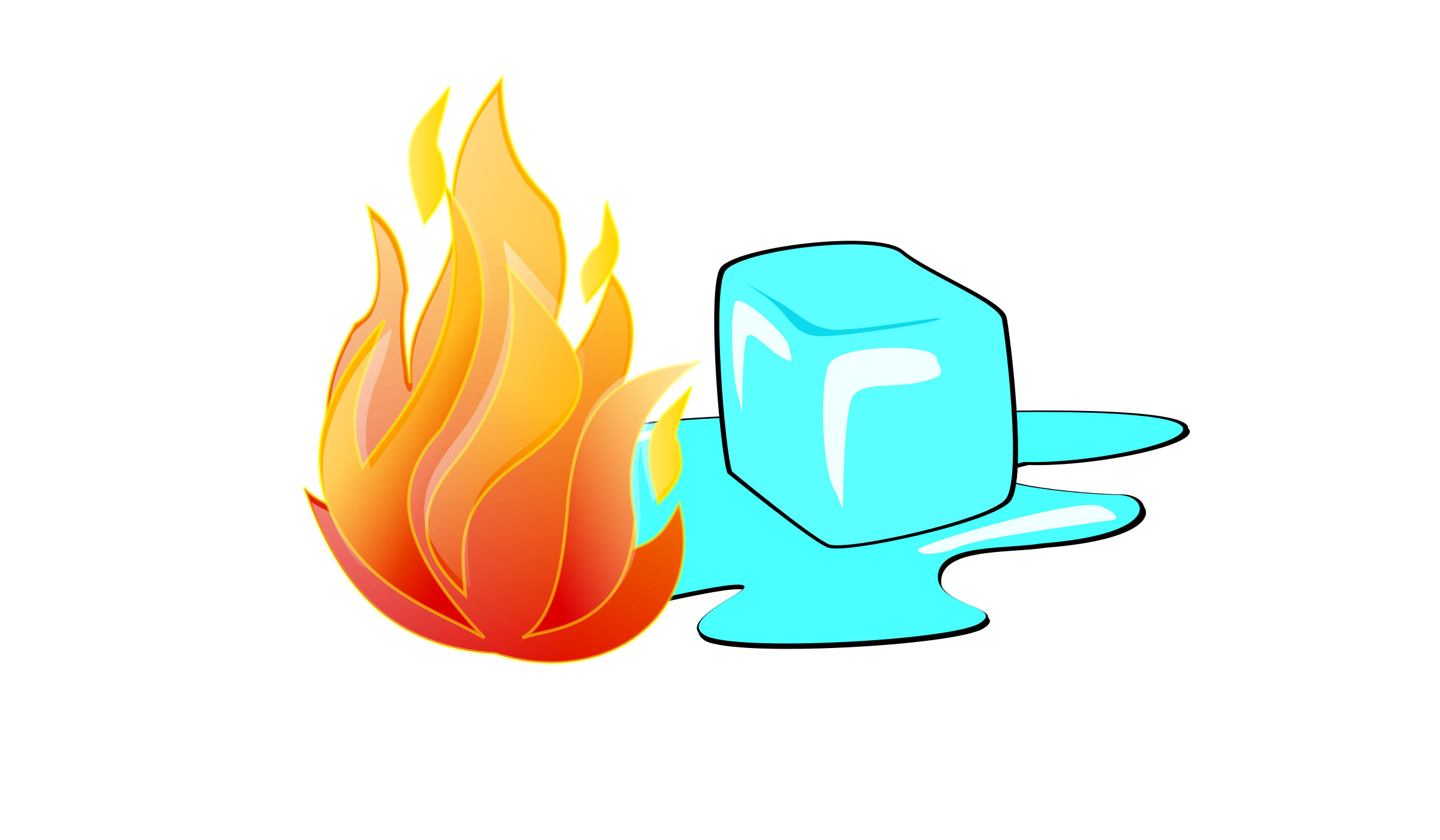 Fire and. Ice clipart graphic library