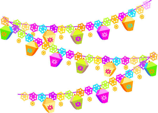 streamers clipart purple
