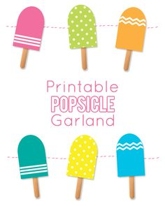 Ice clipart garland.  colorful popsicle cream png library