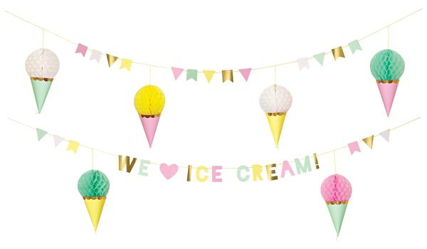Icecream clipart banner. Ice cream party bridal