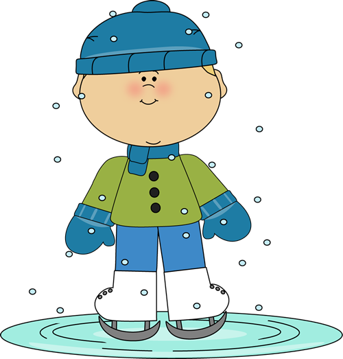 Winter clip art images. Skating clipart banner black and white download
