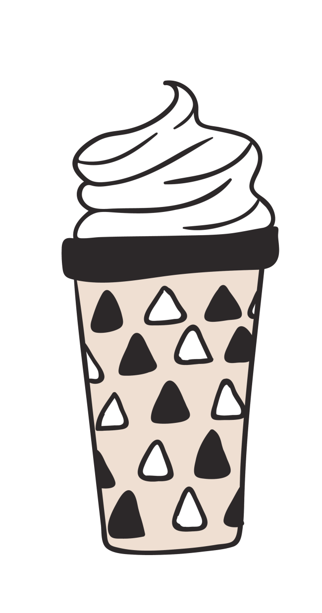 Cycle vector ice cream. Transparent ornamental material for