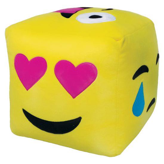 Emoji pillow png. D cube embroidered iscream