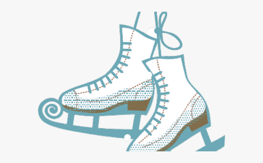 Ice skates. Transparent skating cliparts clipart