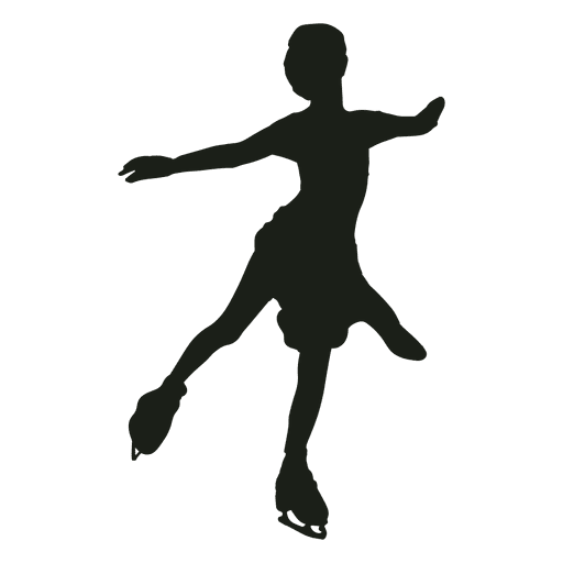 Ice skating png. Little girl silhouette transparent