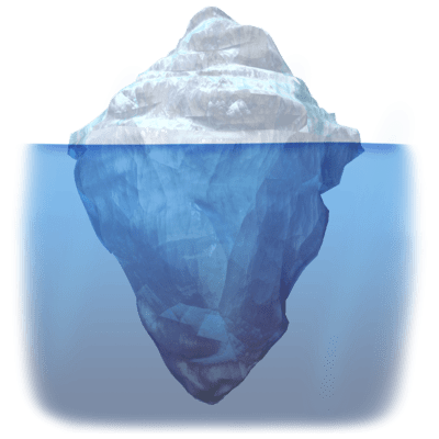 Iceberg clipart diagram. Design transparent png stickpng